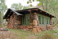 Grand Canyon: Phantom Ranch Cabin 0263 – Paul Carey – Join the world of pin Stone Cottages, Cabins And Cottages, Stone Houses, Log Cabins, Cabin Homes, Log Homes, Stone Cabin, Little Cabin, Cozy Cabin
