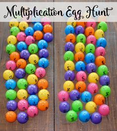 Last year one of my third grade teaching partners had a great idea for a fun way to practice multiplication facts! We had an egg hunt where students matched eggs based on different multiplication fact Multiplication Activities, Fun Math Activities, Numeracy, Math Games, Math Rotations, Math Fractions, Math Resources, Math Strategies, Number Games