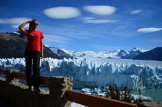 enjoying the amazing Perito Moreno glacier in Argentina