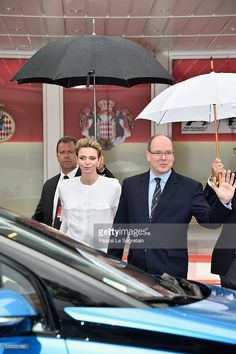 Princess Charlene of Monaco and Prince Albert II of Monaco attend the F1 Grand Prix of Monaco on May 29, 2016 in Monte-Carlo, Monaco on May 29, 2016 in Monte-Carlo, Monaco.