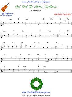 God Rest Ye Merry Gentlemen Violin Sheet Music Sheet Music Free Sheet Music Violin Sheet Music