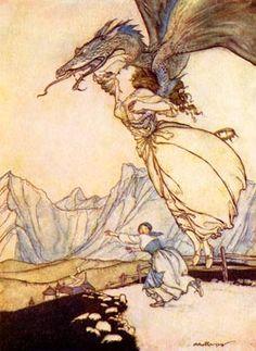 Arthur Rackham - Fantasy Illustrator and one of the first children's book illustrators along with Beatrix Potter.