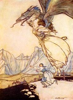 Arthur Rackham - Fantasy Illustrator and one of the first children's book illustrators along with Beatrix Potter.