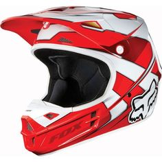 Fox V1 Race Motocross Helmets - http://downhill.cybermarket24.com/2013-fox-v1-race-motocross-helmets-red-medium/