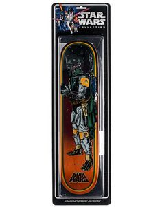 "Santa Cruz x Star Wars Boba Fett Collectible Deck - 8"" - RouteOne.co.uk"