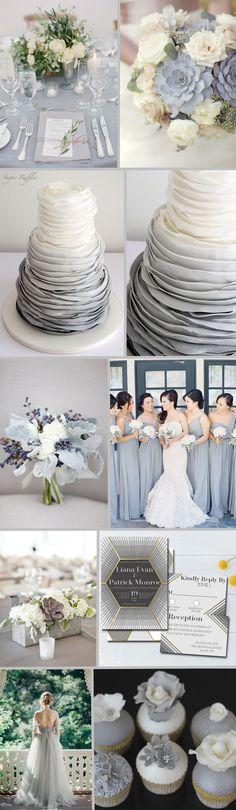 FiftyFlowers - Dove Gray Wedding Inspiration #winterweddingdresses