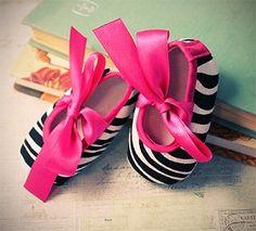 Baby Shoes - Zebra Ballerina Slippers for Baby
