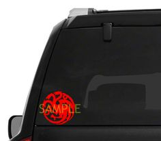 Game of Thrones House of Targaryen Car Decal High Quality Outdoor Vinyl - Whimsical Embroidery Designs - 1