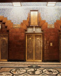 Photo 6 of 8 in Vancouver is an extroverted city - Lavish tile treatment and intricately-etched elevator doors are found inside the Art Deco Marine Bu - Art Nouveau, Arte Art Deco, Art Deco Door, Streamline Moderne, Art Deco Buildings, Interior Exterior, Art Deco Design, Architecture Details, Architecture Art