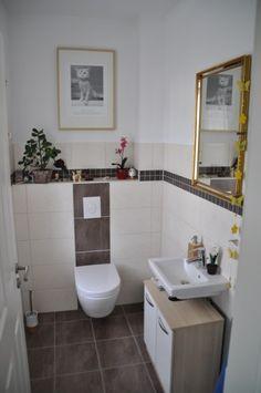 Gäste-WC weiß grau