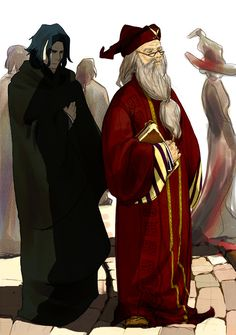 Snape and Dumbledore by Azmin