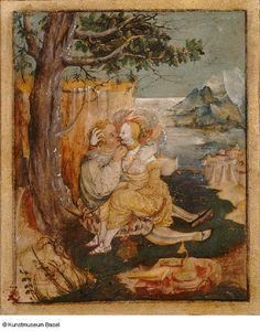 """""""Liebespaar"""" (Amorous Couple), Urs Graf. 1520."""