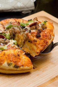 Deep Dish Cast Iron Pizza ....oh my