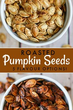Our no-fail method for making the perfect roasted pumpkin seeds, a healthy and crunchy snack. Plus, five simple seasoning options you have to try. Seasoned Pumpkin Seeds, Homemade Pumpkin Seeds, Toasted Pumpkin Seeds, Baking Pumpkin Seeds, Air Fryer Pumpkin Seeds, Cinnamon Sugar Pumpkin Seeds, Pumkin Seeds, Best Pumpkin Seed Recipe, Pumpkin Seed Recipes