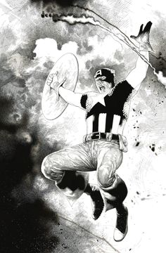 Portofolio nb of Captain america by Travis charest : print in samuel amiet's Prints Comic Art Gallery Room Comic Book Artists, Comic Book Characters, Comic Artist, Comic Character, Comic Books Art, Marvel Characters, Marvel Comics, Bd Comics, Black And White Artwork