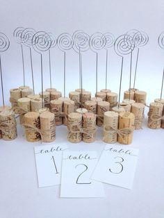 Table Number Holder or Sign Holder with Rustic Jute Twine #weddingplanning #weddingdecoration
