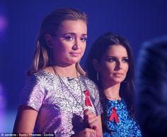 Lauren Platt appears on stage with her mentor Cheryl Fernandez-Versini on Sunday's show
