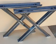 Trestle Table Legs Heavy duty Sturdy Metal Legs by DVAMetal