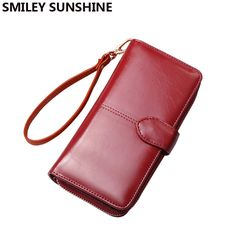 Fair price Big Women Leather Wallets Wristlet Fashion Card Holder Wallets and Purses Long Luxury Girls Wallets Female Cluch Carteras 2017 just only $13.77 with free shipping worldwide  #womanwallets Plese click on picture to see our special price for you