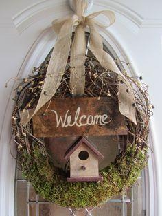 Summer Wreath Door Wreath Grapevine wreath by DoorWreathsByDesign