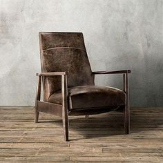 Wordsmith Leather Recliner | Arhaus ** This is one of the most comfortable chairs I have ever sat/lounged in.