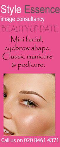 #BEAUTY UP-DATE Mini facial, eyebrow shape, Classic manicure & pedicure.  http://styleessence.com/beauty-rooms/