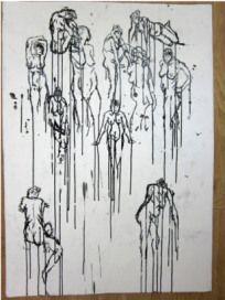 Visual Studies and Life Drawing Life Drawing, Study, Ceiling Lights, Ink, Drawings, Stuff Stuff, Art, Studio, Investigations