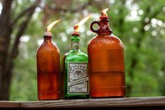 How to Make 12 Different Oil Lanterns using Bottles and Jars: For the new backyard!