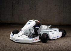 Together with the German Motorsport Association and FIA Electric, Bosch has developed an electric racing kart capable of sprints from 0 to 62 in under five seconds. Underpinning the e-kart is a boost . Kia Soul, Karting, Ford Focus, Electric Kart, Electric Vehicle, Nissan, Dirt Bike Girl, Girl Motorcycle, Motorcycle Quotes