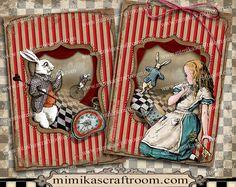 Alice in Wonderland Digital Collage Sheet ACEO by mimikascraftroom Alice In Wonderland Clipart, Alice In Wonderland Illustrations, Printable Playing Cards, Printable Paper, Collage Sheet, Collage Art, Art Altéré, Embroidery Designs, Scrapbook Images