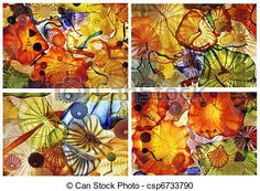 Abstract, glas, kunst, Collage - csp6733790
