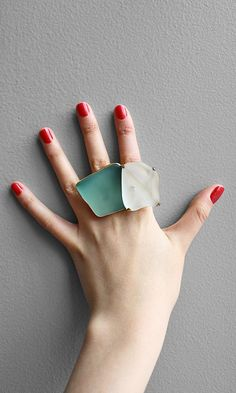 Recycled Glass Rings.