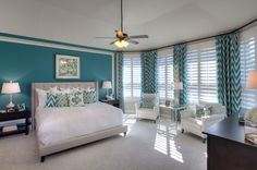 Highland 537 upgraded master bedroom with bay window Master Bedroom, Bedroom Decor, Teen Bedroom, Bedroom Ideas, Highland Homes, Teal Walls, New House Plans, New Homes For Sale, Model Homes
