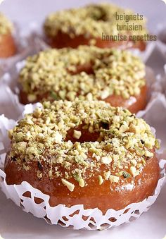 Youyou - bignets à la tunisienne Tunisian Bread Recipe, Tunisian Food, Arabic Sweets, Arabic Food, Sweet Recipes, Cake Recipes, French Sweets, Algerian Recipes, Indian Street Food