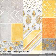Painted Watercolor Paper Pattern Design