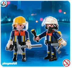 The two brave firefighters in this Playmobil Fire Rescue Squad are ready to fight fires and rescue anyone in danger. With axes and oxygen and all their gear, they are ready to go into a burning building to come to the rescue. Playmobil toys offer children everything they need for imaginative play. Every Playmobil box contains well-crafted, highly detailed, plastic toys for kids to pretend and play with.     Recommended Ages: 4 to 10 years old.$4.99