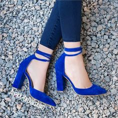 Artu Süet Saks Mavisi İpli Kalın Topuklu Stiletto Artu Suede Sax Blue Drawstring Thick Heels Stiletto to Blue Stilettos, Blue Heels, Stiletto Heels, Shoes Heels, Pumps, Cute Shoes, Me Too Shoes, Jeans Bleu, Prom Heels