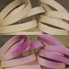 UV custom color-changing wristbands - When you wear them indoors they are white, and outdoors they turn a different color! Order yours online and select White UV Day Glow for your color choice Day Glow, Rubber Bracelets, Different Colors, Outdoors, Warm, Make It Yourself, Live, Clothing, How To Make