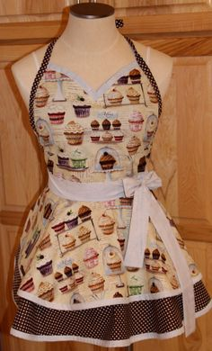 Cute as a Cupcake Retro Apron   Ready to Ship by SemperFabDesigns, $40.00