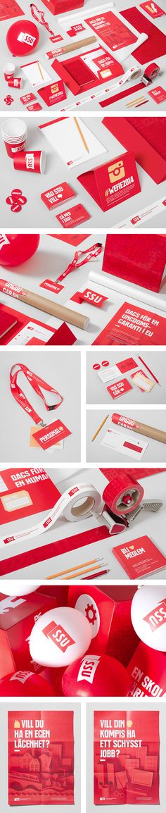 SSU Identity - strong brand through colour. Simplistic