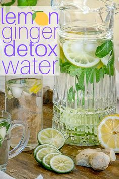 Homemade Lemon Recipes - how to make lemon ginger detox water!