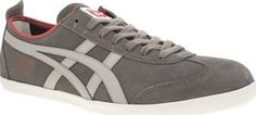Onitsuka Tiger Grey Mexico 66 Vulc Mens Trainers The most popular Onitsuka Tiger profile arrives in grey suede for the new season. Sporting tonal branding on the midsection, red accents and a slim white rubber sole unit finish the classic Mexico 66  http://www.comparestoreprices.co.uk/january-2017-8/onitsuka-tiger-grey-mexico-66-vulc-mens-trainers.asp
