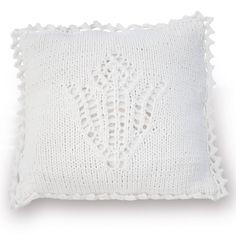 Lana Grossa KISSENHÜLLE MIT AJOURBLÜTENMOTIV Cotofine - FILATI Handstrick No. 59 (Home) - Modell 51 | FILATI.cc WebShop