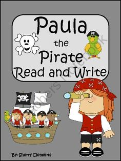 On GIVEAWAY now through the 18th.   4 Lucky Winners!  Register for your chance to win today! Paula the Pirate Read and Write - In this three page Read and Write pack, students will read the one page story and color the pictures. Then there are two pages with five sentences on each page about the story. Each sentence has a missing word. At the end of each sentence, there are two words for students to choose the correct missing word.