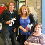 @Lancashire Libraries & Heritage And here's a good picture of #Lancashire Cheese Unicorn (with some friends ;-) @BBCLancashire #Garstang #yarnbomb