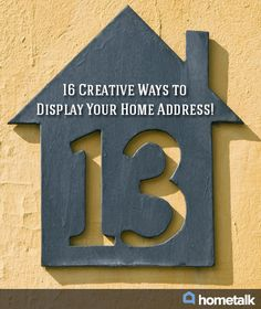 Address numbers on pinterest address plaque address - House number plaque ideas ...
