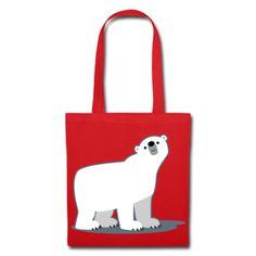 Cute cartoon polar bear :) Mignon ours polaire cartoon :)  Süß Cartoon-Eisbär :)  Tote Bag, fully customizable