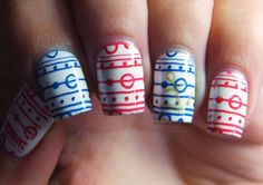 Uñas Nauticas, mas de 40 ejemplos – Nautical Nails | Decoración de Uñas - Manicura y NailArt - Part 3
