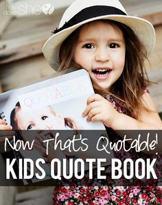 kids quote book-I just may have to get this!