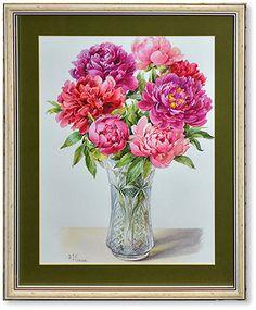 """Bouquet of peonies  watercolor 15.7""""x11.8"""", 2009; 200$"""